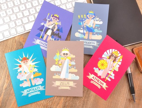Greek Mythology Character Postcard Set (5pcs)