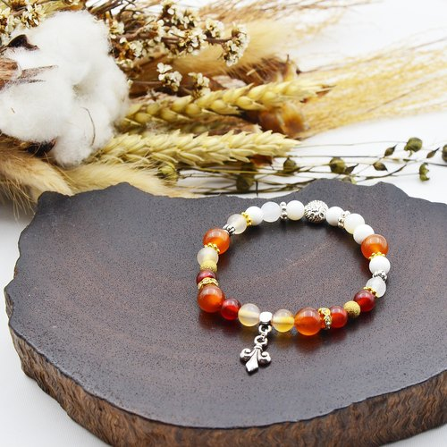 If the dream | orange agate - 砗 磲 | natural stone bracelet