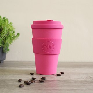 [natural bamboo fiber] environmental protection cup 14oz peach red
