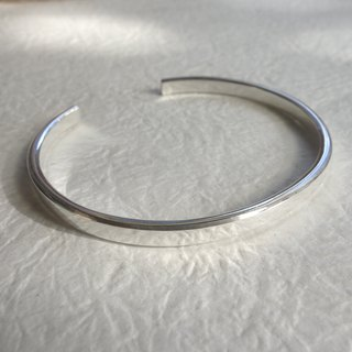 Sterling Silver - Thick Sensitive Face Silver Bracelet