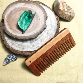 Hand with wooden comb - cypress wood stitching rosewood
