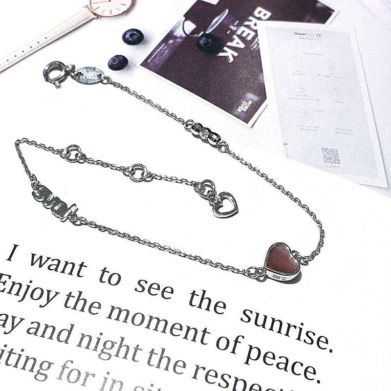Eli Jewelry 日本進口Pt950鉑金 經典LOVE小愛心Pt950鉑金手鍊
