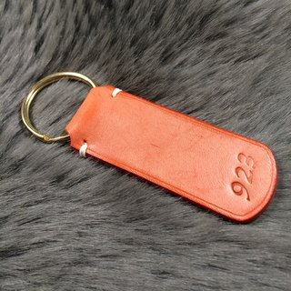 Hand-made leather Italian leather key chain rub wax paper orange orange wedding gift small souvenir