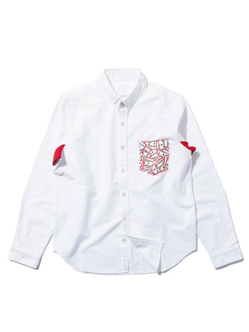 [Picks] DeMarcoLab x have a good time totem shirt pocket Oxford shirt Taiwan and Japan joint manufacturing in Taiwan are only two color numbers S