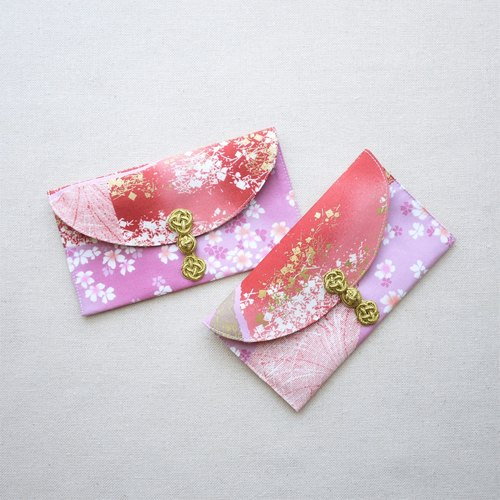 Cloth red envelopes - falling cherry colorful (1 into)