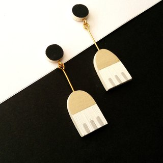 Wooden Earrings No.32