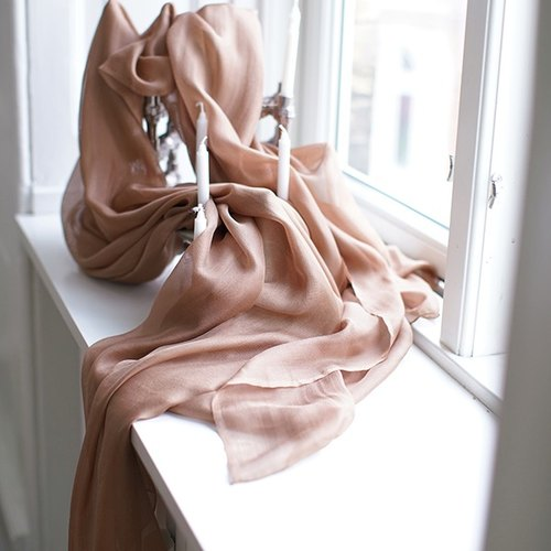 Champagne gold ultra-soft texture of the silk scarf tie scarves nice and warm towel | Fan Tata independent design Women