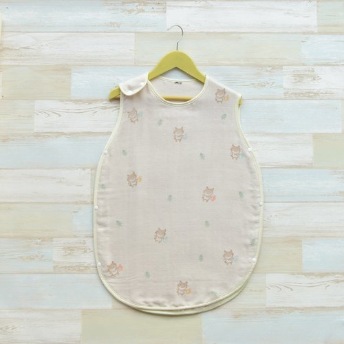 Limited exclusive ~ autumn paragraph Japanese handmade yarn kick 4 weight vest warm baby's heart (Pre)