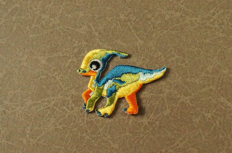 Xiao Cai Long Self-adhesive Embroidered Cloth Sticker - Dinosaur Resurrection Series (New shelves)