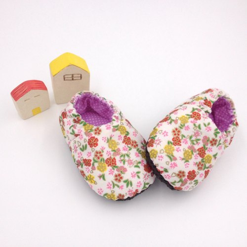 HBS handmade doll shoes - Gold Sakura