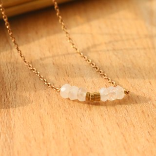 Moonstone brass necklace 1008(charming)