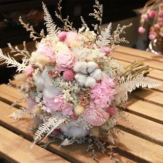 Diffuse flowers - pink and white dry bouquets do not wipe flowers bouquets dried bouquet wedding props