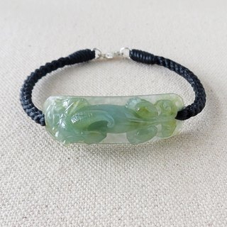 Sterling Silver**Fashion [Meng Choi] Emerald Silk Wax Line Bracelet***[8 strands series]** Lucky