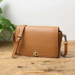 handmade leather shoulder bag /messenger bag/slim bag