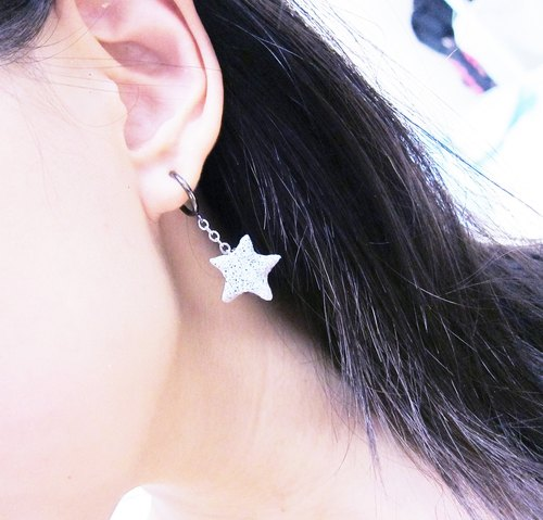 [Mineral - Star earrings]