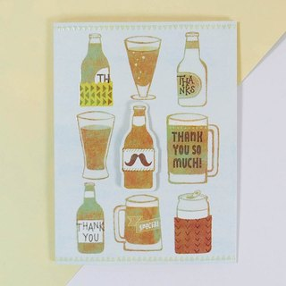 Please drink a drink thank you card [ JP usual thank you card]