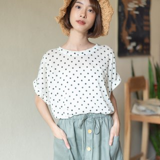 Basic T-shirt (Short sleeved) - Polka dot