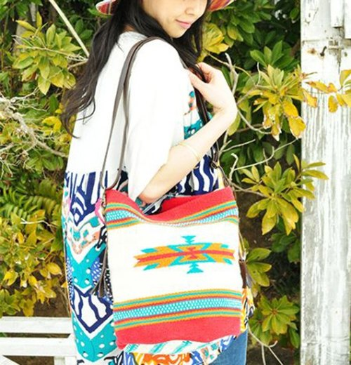 【Pre-order】 ☼ Indian Totem Shoulder Bag ☼ (colored)