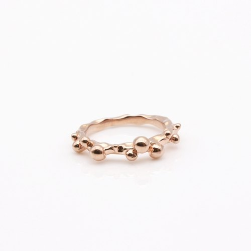 Hope bubble silver ring rose gold
