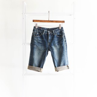 Heshui Mountain - Lee / W26 Dim Afternoon and Refreshment Time Cotton Denim Antique Straight Shorts