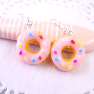 *Playful Design* Sakura Donuts Drop Earrings