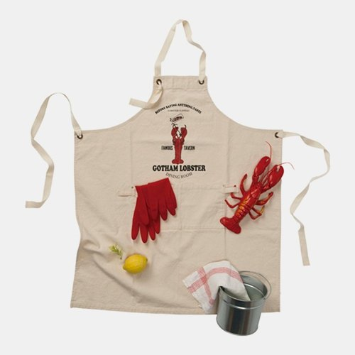 Everyday Working thick washed canvas work aprons / Lobster Restaurant