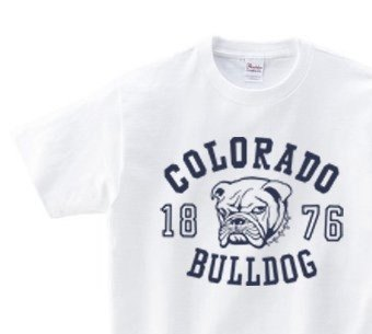 Colorado ☆ bulldog WS ~ WM • S ~ XL T-shirt order product]