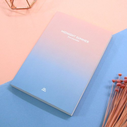 Knock - Korean Hand Calendar - Midsummer Night Gradient Calendar - Zhou Zhi (Calendar) -01 Dream Pink Blue, PLD64938