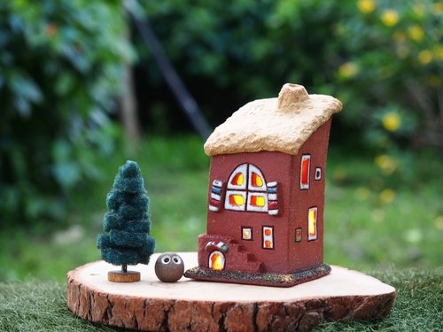 [Candle Light House Candle House] # NC-003 hand-made pottery - elf story house (including 1 candle +1 elf), has sold sold out