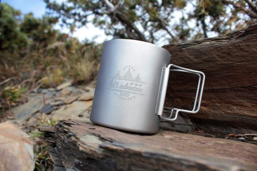 Titanium adventure pure titanium double insulation cup 330ml