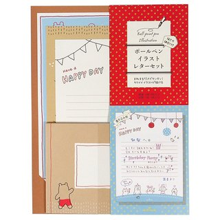 Lively style hand-drawn graffiti letter kits three each 3 into [Hallmark-card box card / multi-purpose]