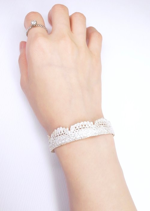 """Ermao Silver"" Silver Lace bracelet (female section)"