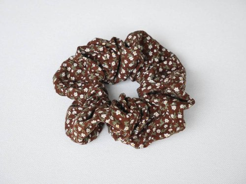 [Coffee Floral hair ring]