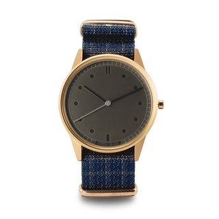 GOVERNOR Royal Deep Blue Plaid Watch (Replica Limited Edition) - Rose Gold