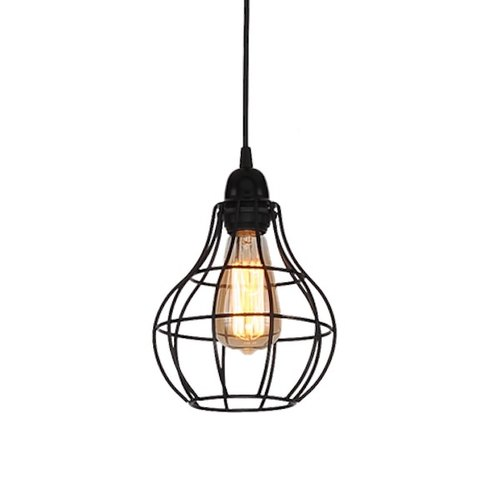 Loft industrial wind retro iron single lamp chandelier-LS-7055-1
