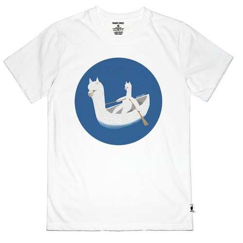 British Fashion Brand [Baker Street] Boating Alpaca Printed T-shirt