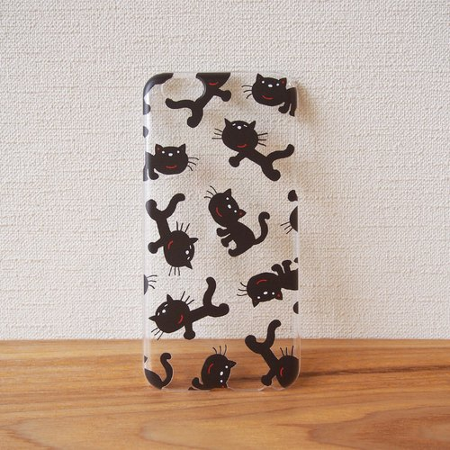【Clear iPhonePlus case】Black Cat