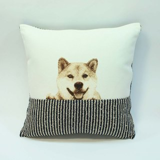 Embroidery small pillow 08- Shiba