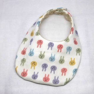 Japanese Handmade 8-layer-gauze Baby Bib /colorful rabbit