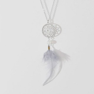 Happiness Dream Catcher White Agate Necklace Dream Catcher Necklace