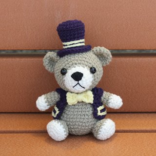 Gentleman Bear Bear Gordon Hand crocheting