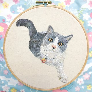 Feeling Embroidery / Custom Order Embroidery Animals Cat Frame Painting Order Please Contact Before Contacting