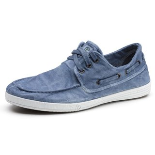 Spanish handmade canvas shoes / 303E sailing shoes / men's clothing / washed blue