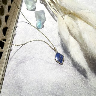 VIIART. Ling. Vintage natural lapis lazuli blue turquoise ancient silver plated 18K necklace limited edition for sale