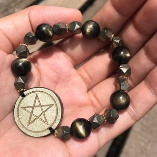 【Lost And Find】Natural OBSIDIAN magic bracelet