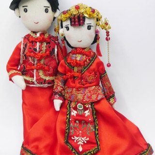 Customized Wedding Couple in Traditional Wedding Dress