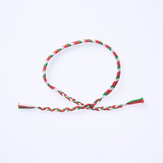 Black Honey Ma ◕‿◕ twill 4 shares lucky Wishing rope rope rope lucky bracelet surf bracelet foot ring hand-woven custom design Christmas red and green Christmas