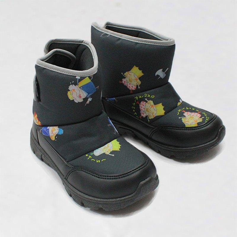 零碼特價 防水故事靴 – 黑色國王的新衣 童鞋/童靴