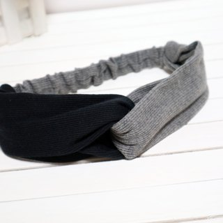 Black and gray thread stitching ~ Cross section hair straps*SK*