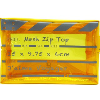 Director Clap - Mesh Zip Top - Suitable for carrying liquids on aircraft- Yellow